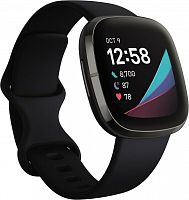 Умные часы Fitbit Sense carbon/graphite stainless steel